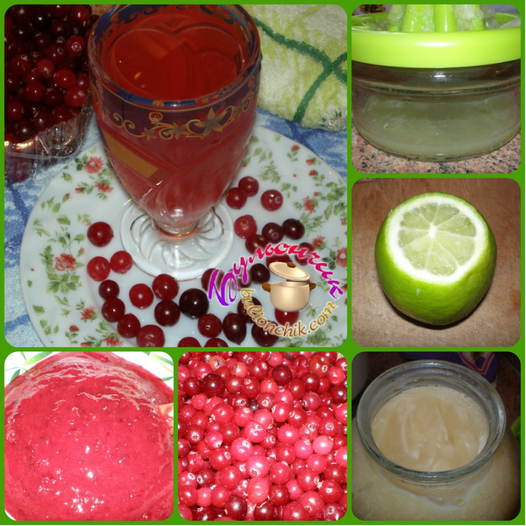 Напиток из клюквы витаминный