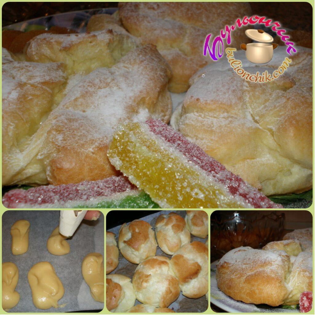 Вкусные заварные пирожные бульончик