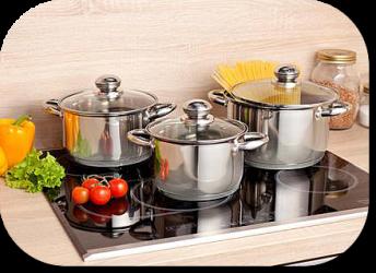 Разнообразие кухонной посуды